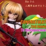 「Kimagureman! Studioさん、サイト開設2周年おめでとうございます」